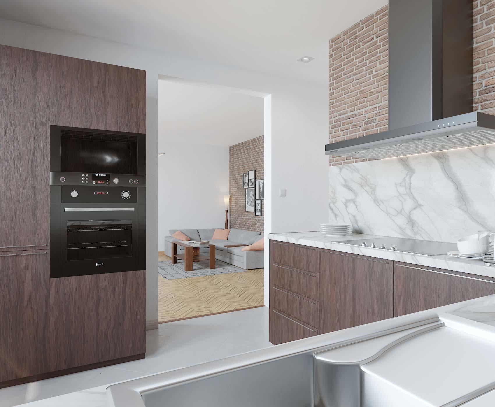 idea3d - vizualizácia kuchyňa 3