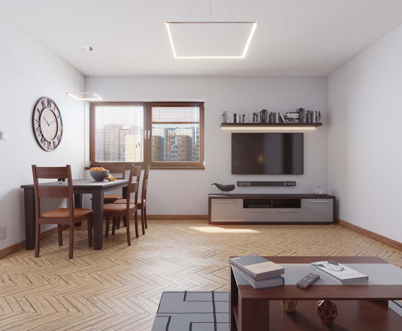 idea3d - vizualizácia obývačka 1