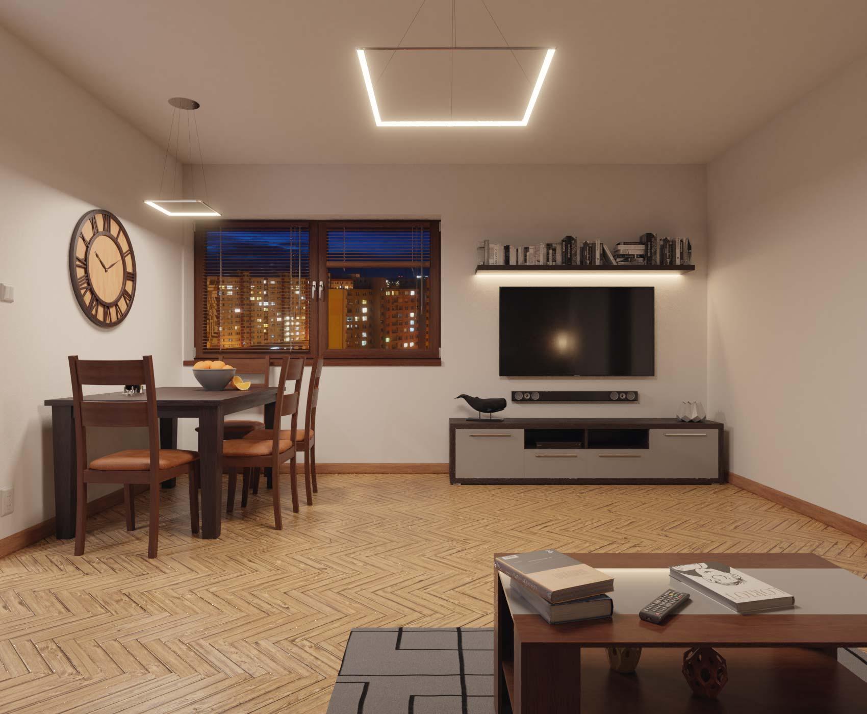 idea3d - vizualizácia obývačka 3