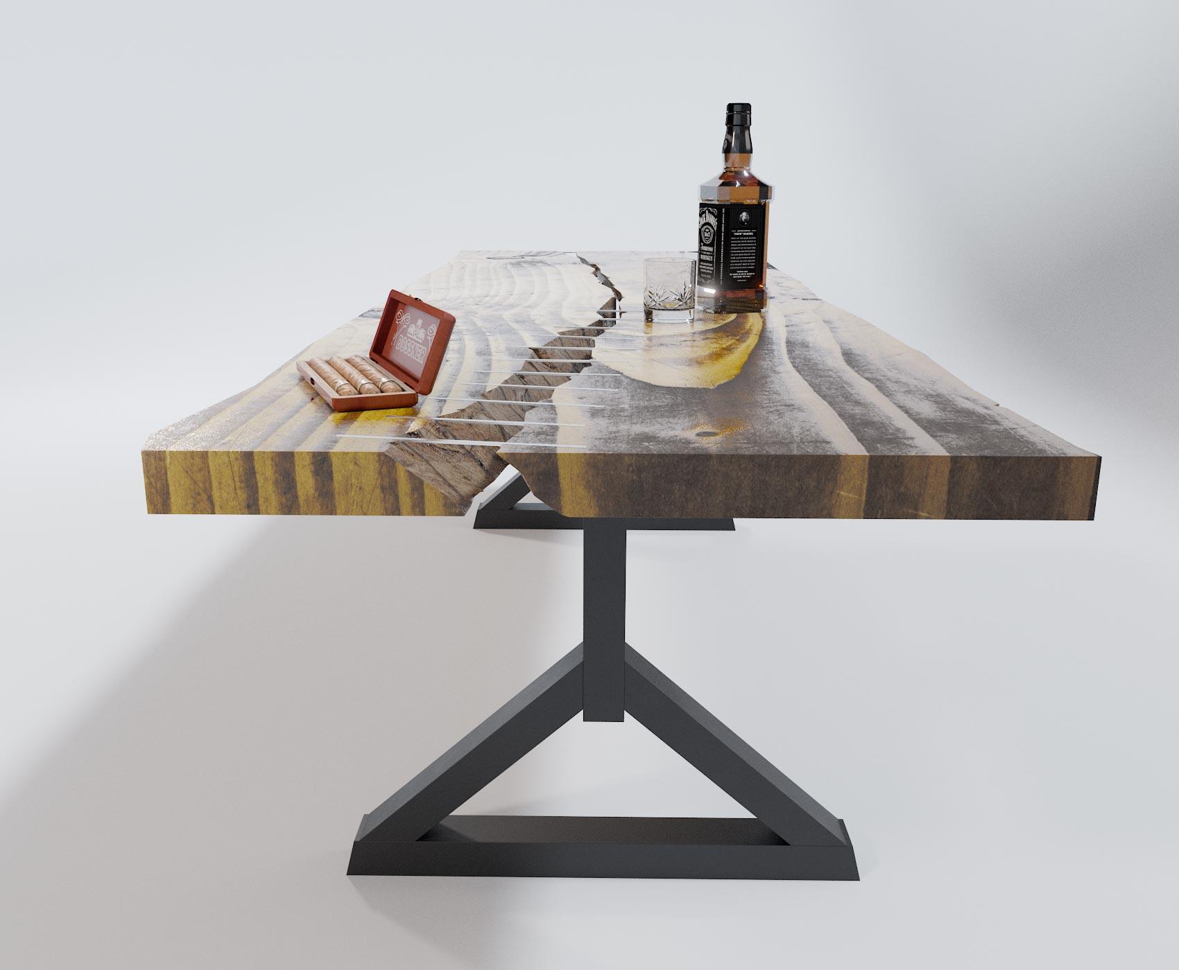 idea3d - vizualizácia luxusného nábytku stôl 2