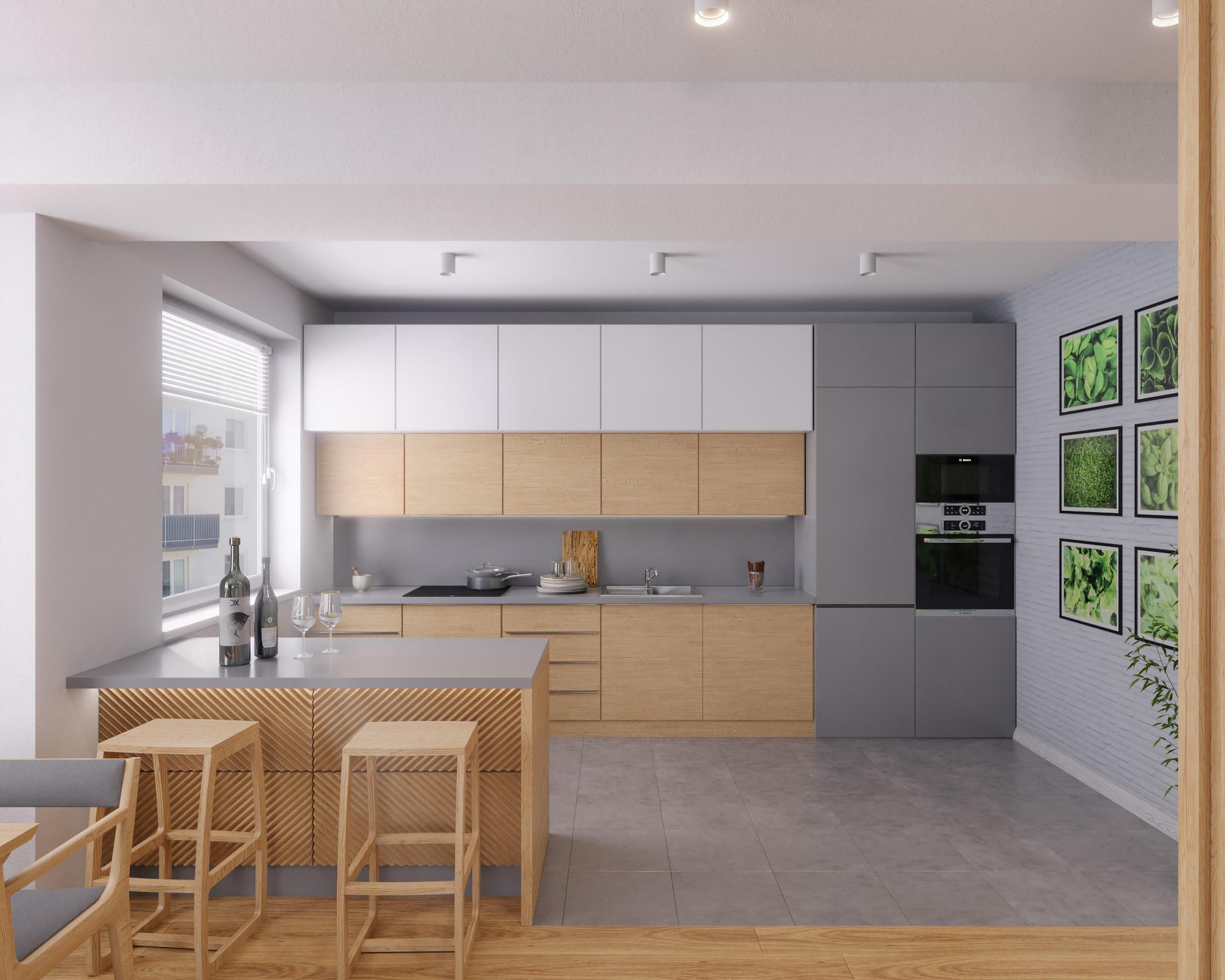 idea3d - vizualizácia kuchyňa 1 - Nové Vlčince