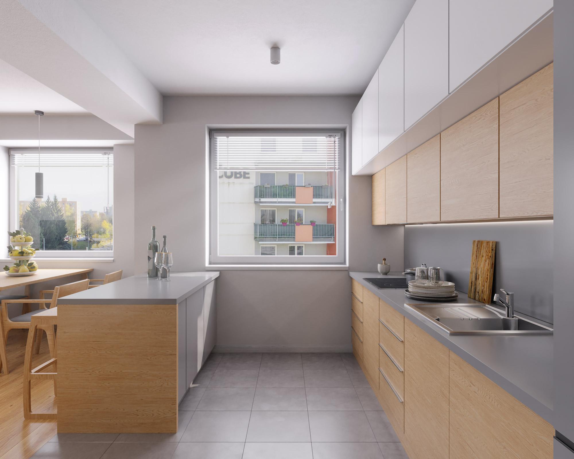 idea3d - vizualizácia kuchyňa 2 - Nové Vlčince