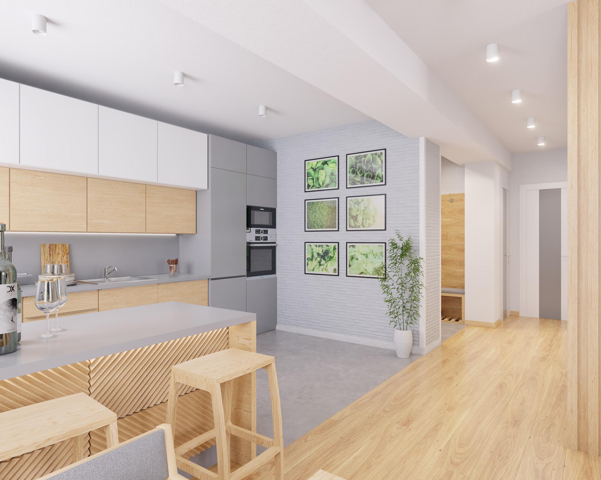 idea3d - vizualizácia kuchyňa 3 - Nové Vlčince