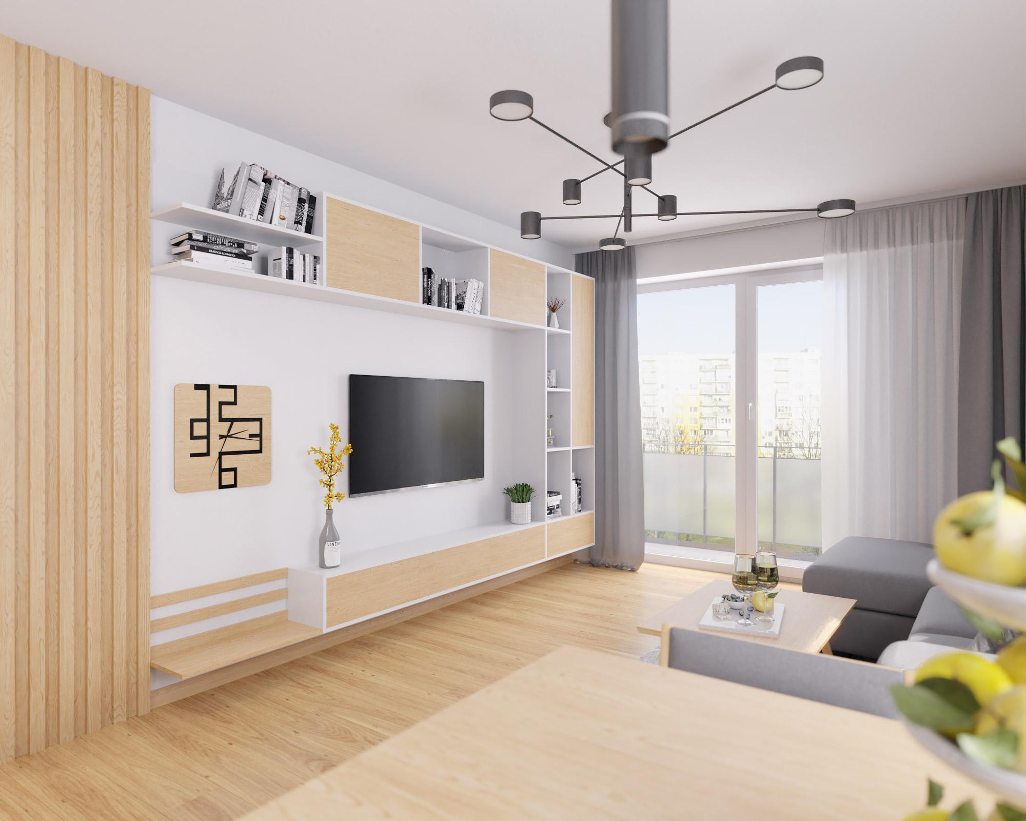 idea3d - vizualizácia obývačka 2 - Nové Vlčince