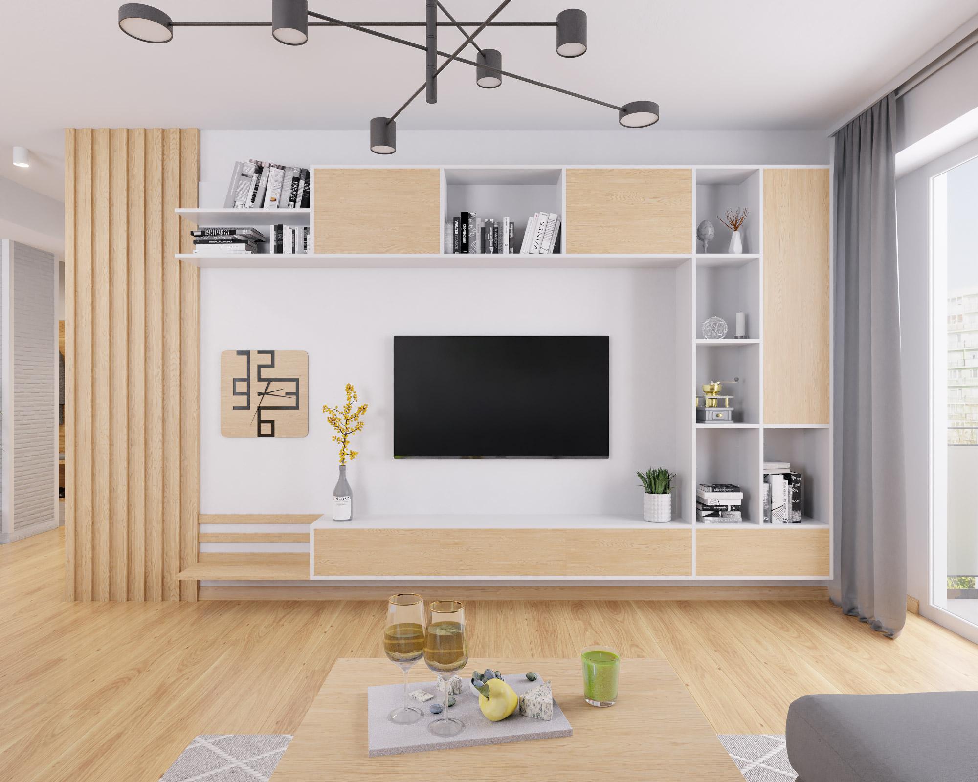 idea3d - vizualizácia obývačka 1 - Nové Vlčince