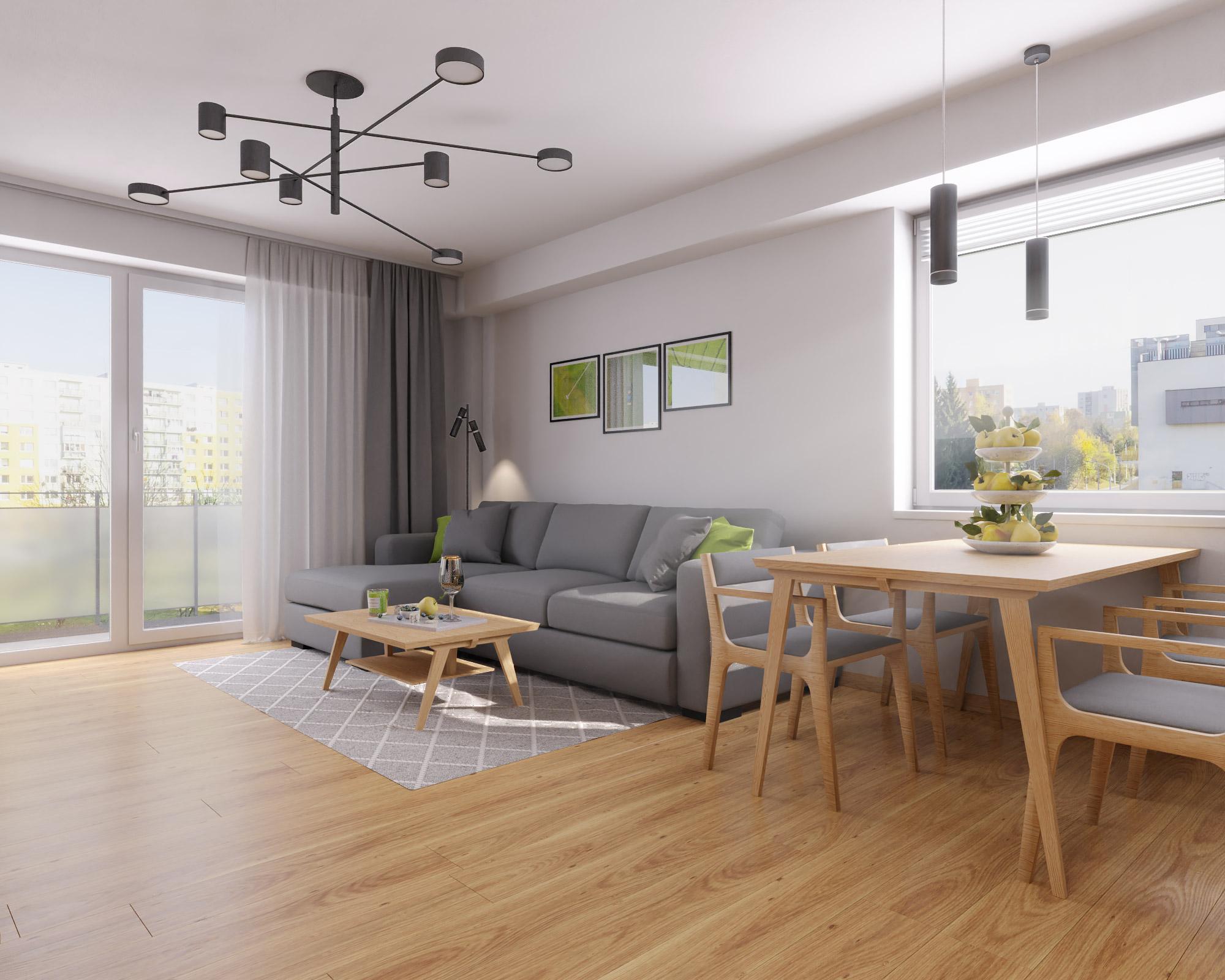 idea3d - vizualizácia obývačka 3 - Nové Vlčince