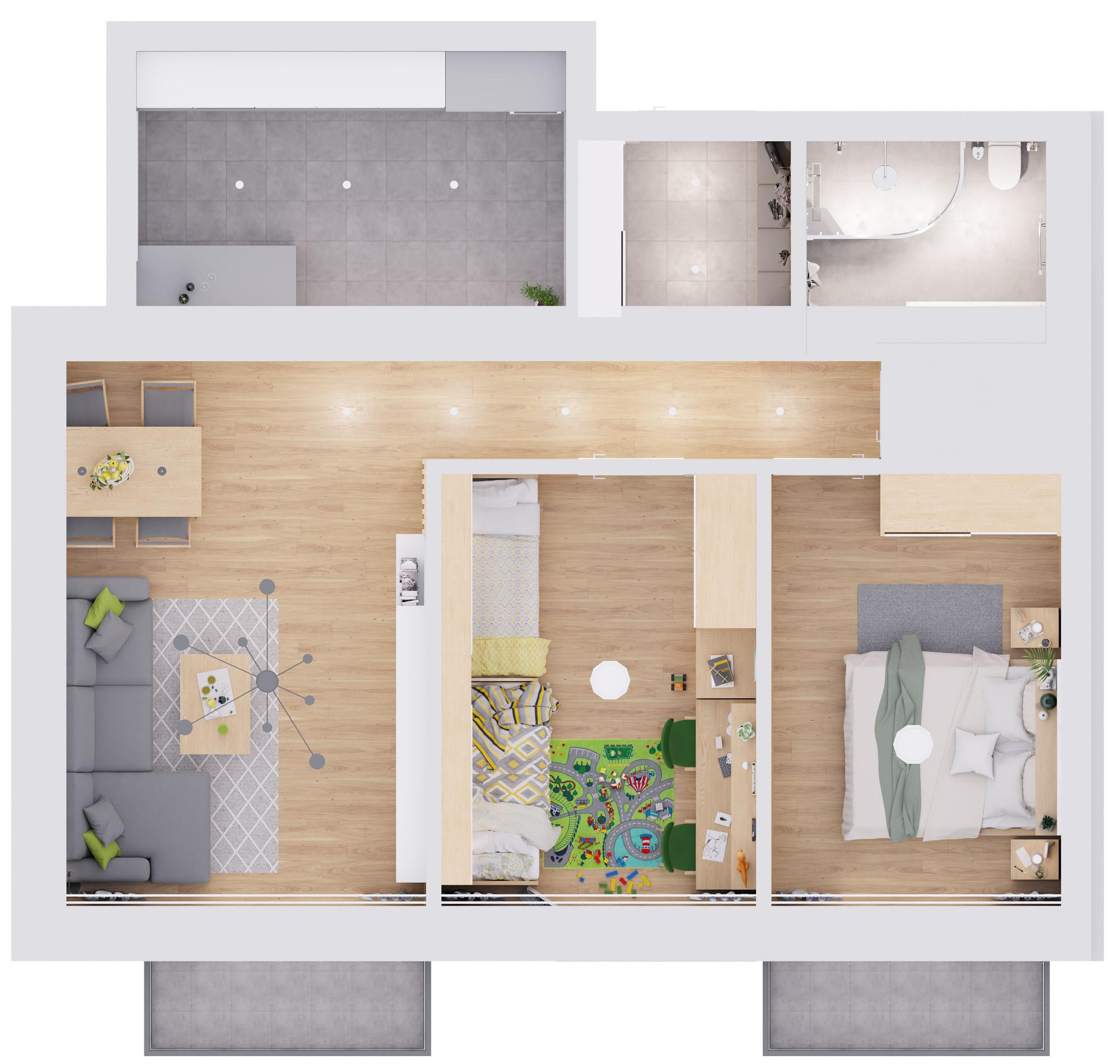 idea3d - vizualizácia pôdorys - Nové Vlčince