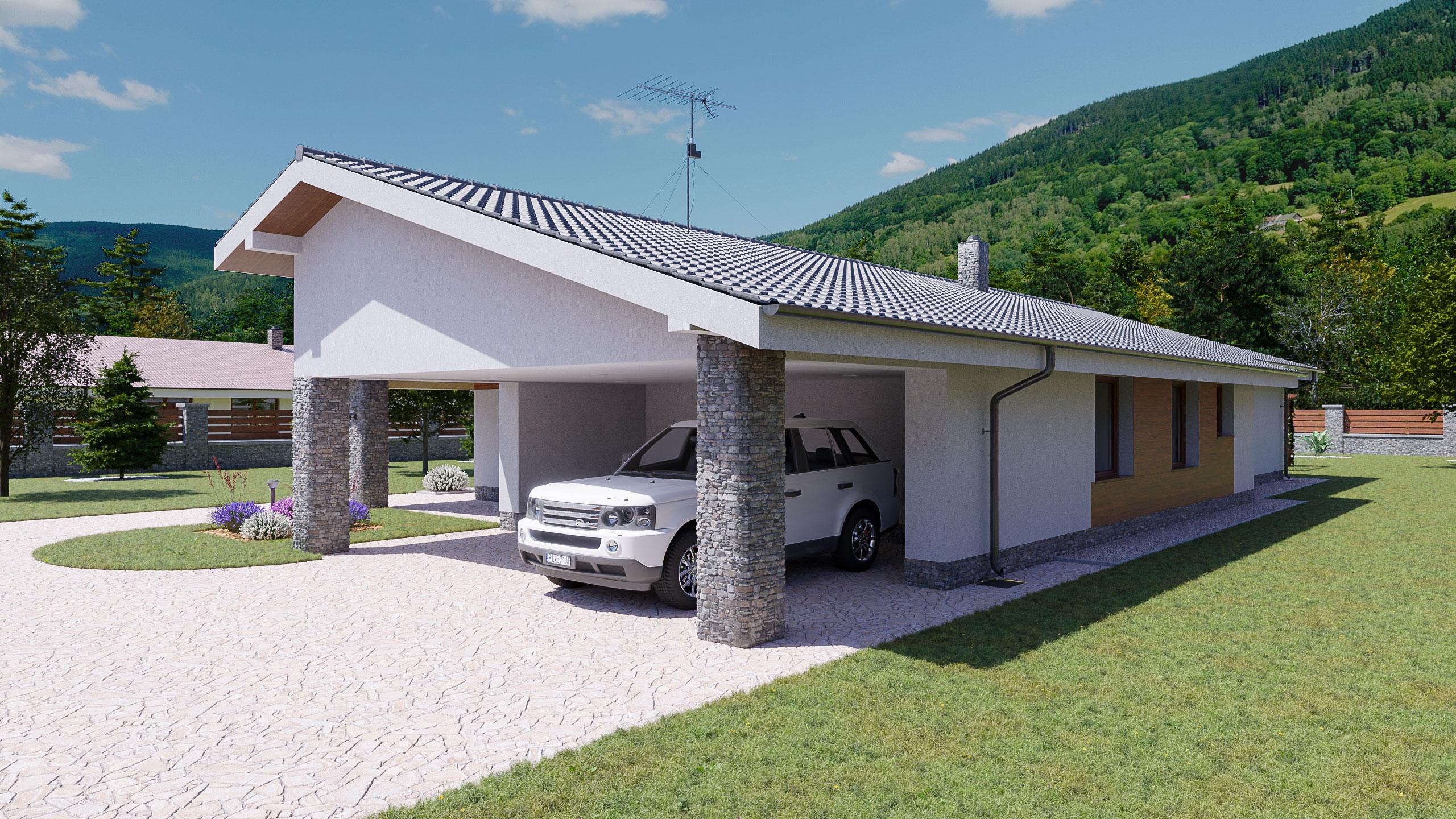 idea3d - vizualizácia rodinný dom 120m2 - deň 1