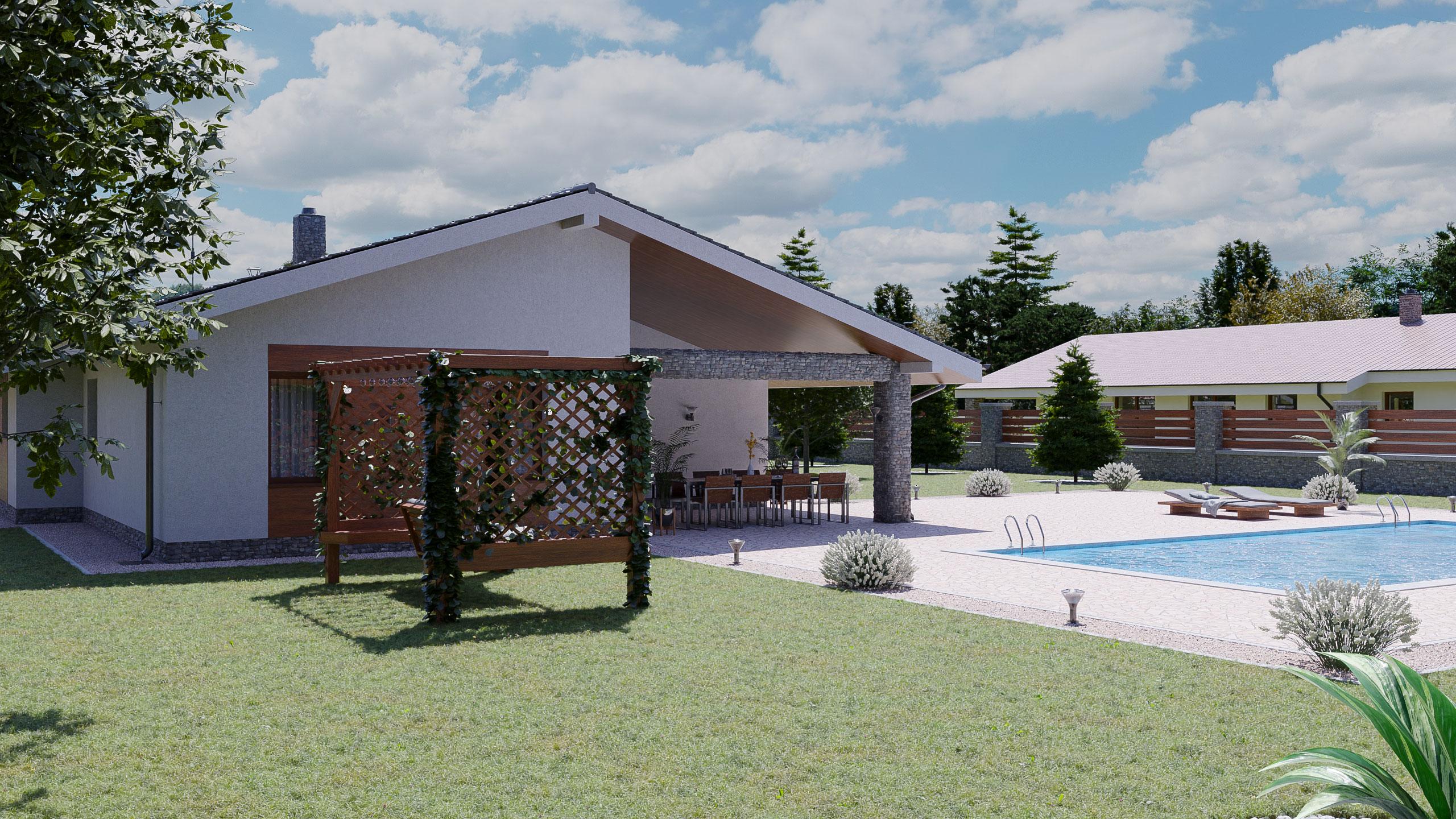 idea3d - vizualizácia rodinný dom 120m2 - deň 3