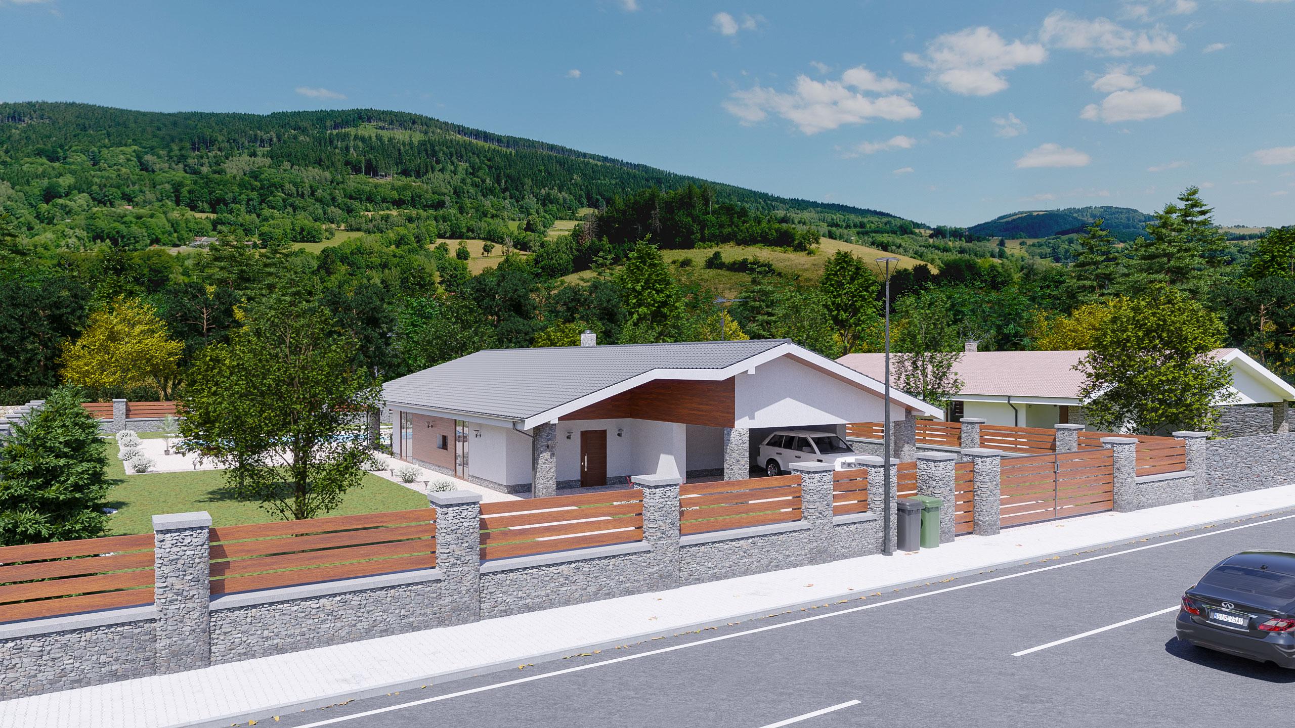 idea3d - vizualizácia rodinný dom 120m2 - deň 6
