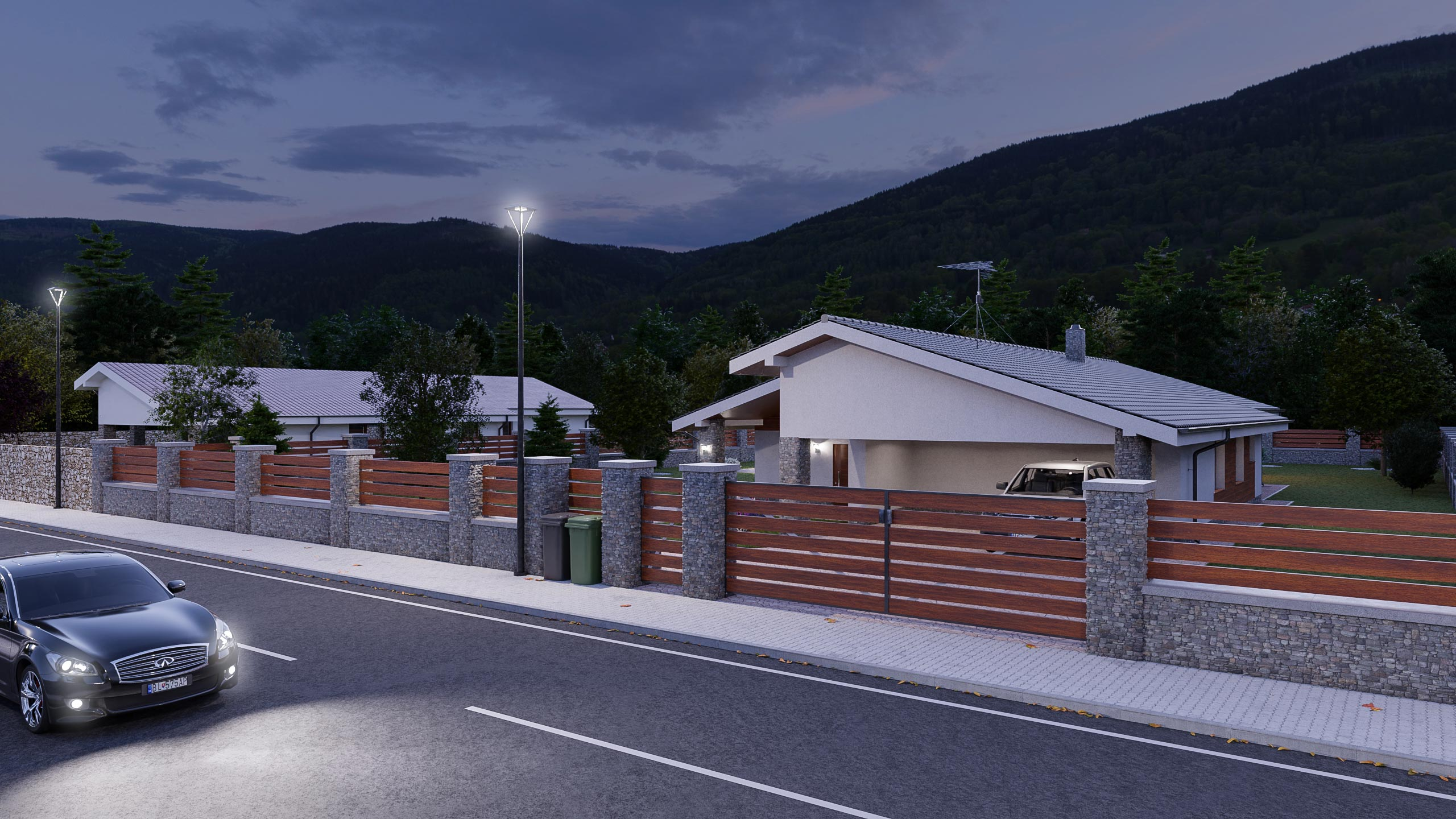 idea3d - vizualizácia rodinný dom 120m2 - večer 5