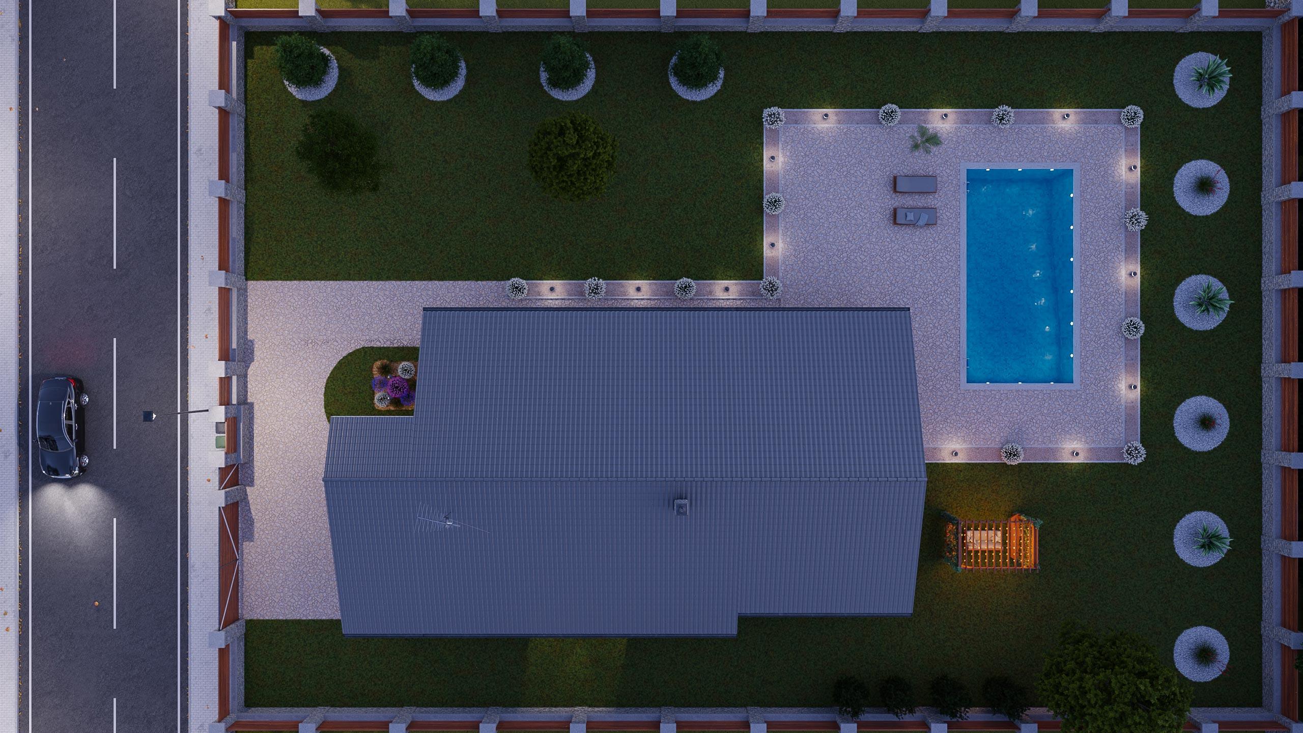 idea3d - vizualizácia rodinný dom 120m2 - večer 7