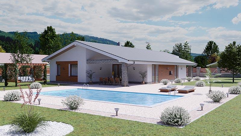 idea3d - vizualizácia rodinný dom 120m2 domov